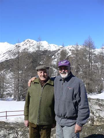 Pino and Julio at Mota, Italy
